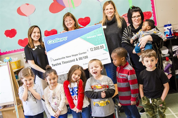 CoServ grant to fund diapers for a year at New Hope Learning Center