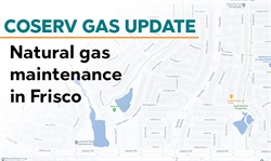 CoServ Gas conducting maintenance in Frisco