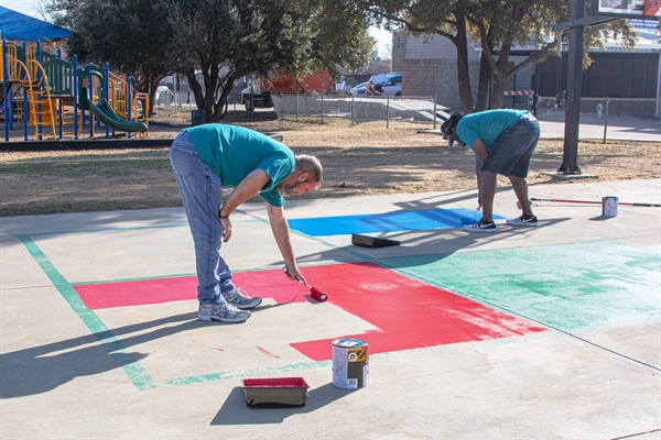 CoServ gives fresh coat of paint to Corinth Elementary School playground