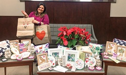 CoServ Employees make crafts for hospice patients