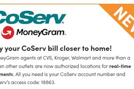 Real-time CoServ bill payments now accepted at MoneyGram locations